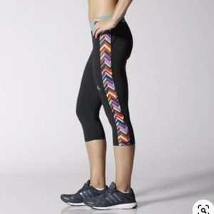 Adidas Techfit Printed Capri Leggings, Size XS